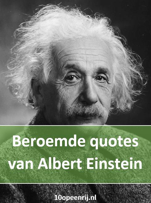 Beroemde quotes van Albert Einstein