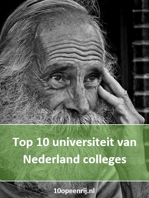 10 universiteit van Nederland colleges