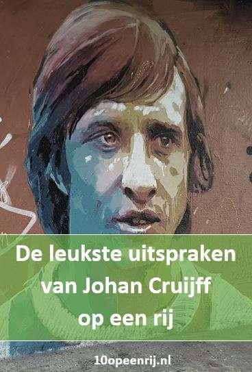 De leukste uitspraken van Johan Cruijff op een rij