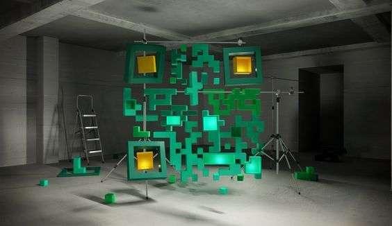 QR code in een fotostudio